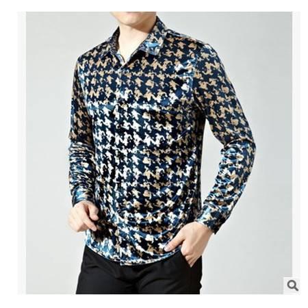 高档面料时尚男式衬衫翻领春季新款商务男装长袖衬衫尊霸包邮
