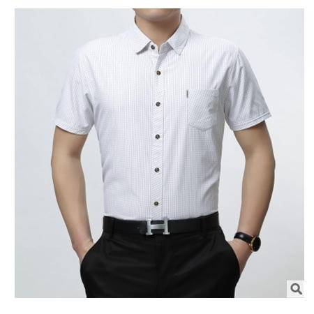 男装新款夏季短袖开衫时尚休闲商务衬衣男士短袖衬衫尊霸