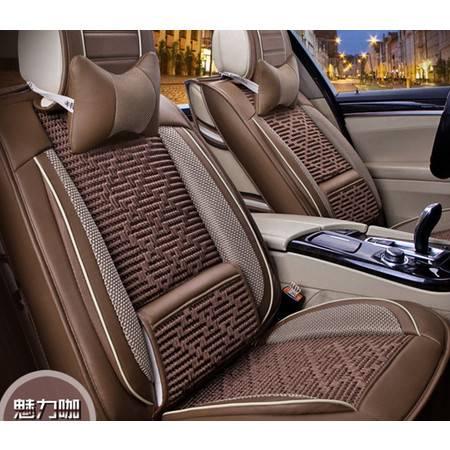 新款汽车坐垫四季通用冰丝坐垫皮革大包围3D立体汽车座套夏豪远包邮