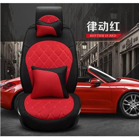 2016新款汽车坐垫高档亚麻四季汽车座套朗逸汽车坐垫豪远包邮