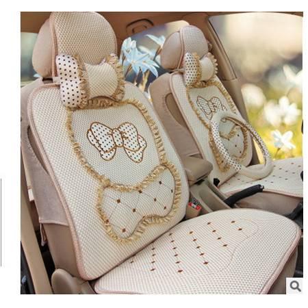 蕾丝上海大众新朗逸通用座套夏季可爱卡通冰丝女四季全包汽车坐垫豪远包邮