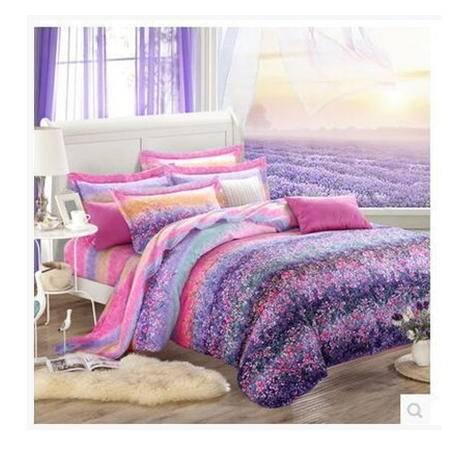 全棉活性加厚磨毛花卉四件套纯棉床上用品精美罗莱 秋冬新品幻桃包邮