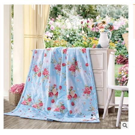 精梳全棉印花可机洗夏凉被空调被床上用品2016新品上市 幻桃包邮