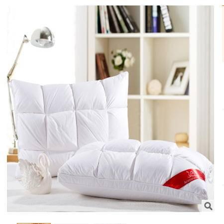 95%白鹅绒羽绒枕精美富安娜枕头枕芯羽绒枕保健枕羽绒枕芯幻桃包邮