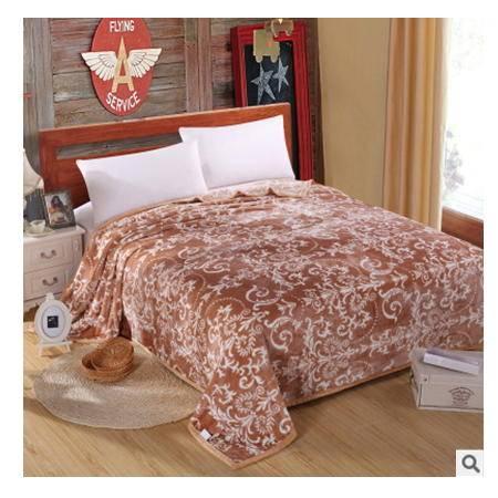 超柔加厚云貂绒礼品毯子精美富安娜 加厚保暖云貂绒毯子幻桃包邮