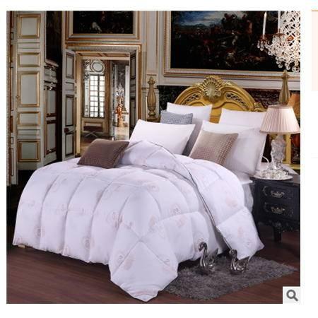 冬季床上用品加厚保暖羽绒被精美富安娜家纺全棉印花羽绒被幻桃包邮