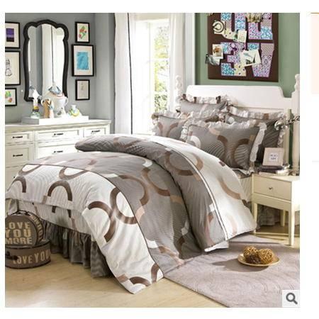 床罩床笠床裙式四件套韩版全棉斜纹公主风床上用品 优里卡包邮
