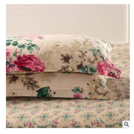 家纺床上用品全棉纯棉斜纹韩版印花单人枕套枕头套优里卡