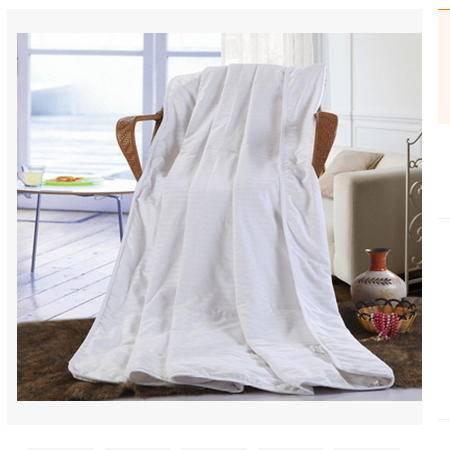 单人双人空调被 夏被空调被纯棉缎条床上用品蚕丝被 优里卡包邮