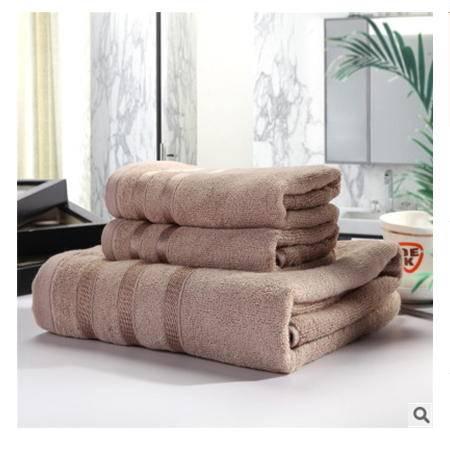 浴巾套巾 毛巾 高档礼品墨竹竹纤维浴巾三件套 优里卡
