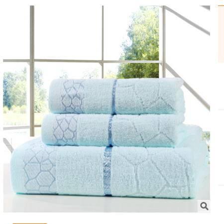 水立方套巾组合纯棉毛巾浴巾三件套组合超值装 优里卡