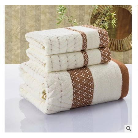 菱格套巾组合纯棉毛巾浴巾三件套组合超值装优里卡