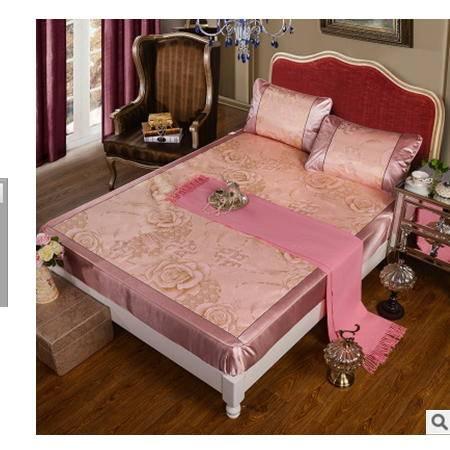 提花床笠式冰丝席单人双人空调席床笠款无纺布冰丝席三件套优里卡包邮