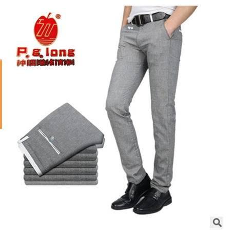 棉类混纺灰色薄款直筒裤 男裤春夏新款韩国新款牛仔裤 龙仕顿包邮