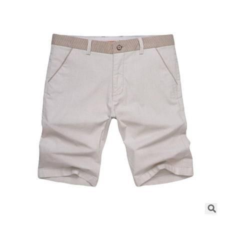 韩版修身直筒纯棉男式休闲短裤夏季人气男士五分短裤龙仕顿