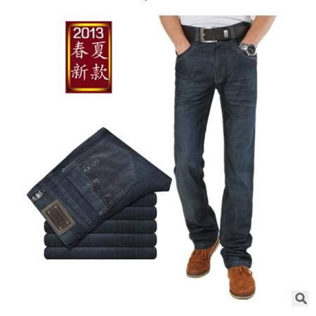 男士优质商务休闲修身直筒牛仔裤新款精品潮流男装龙仕顿