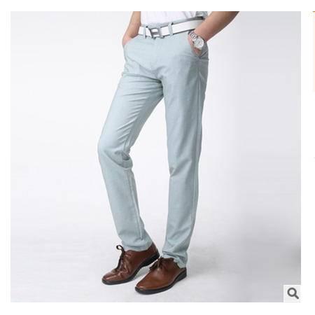 韩版基本款薄款男装直筒型裤男式春季新款男裤长裤龙仕顿包邮