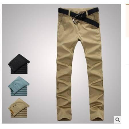 修身直筒韩版纯棉男裤新款男装男士裤薄款长裤 龙仕顿包邮