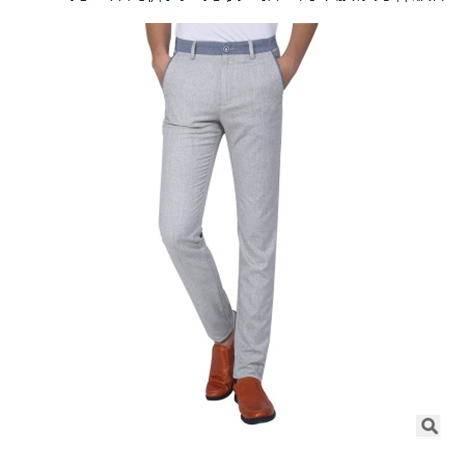 新款直筒中腰修身韩版休闲裤长裤男士休闲裤夏季男装龙仕顿包邮