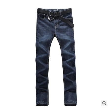 韩版直筒修身牛仔长裤男式牛仔裤男新款男士牛仔裤龙仕顿
