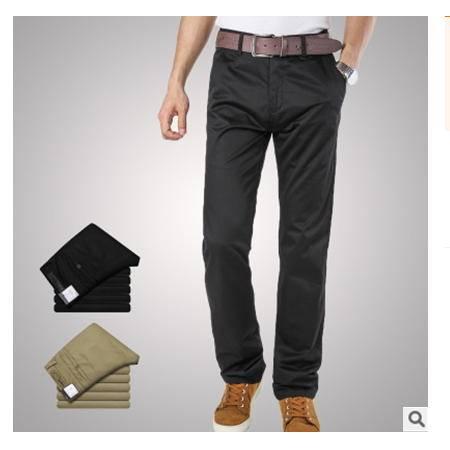 韩版时尚修身微弹黑色裤长裤 男裤男装春夏新款 龙仕顿包邮