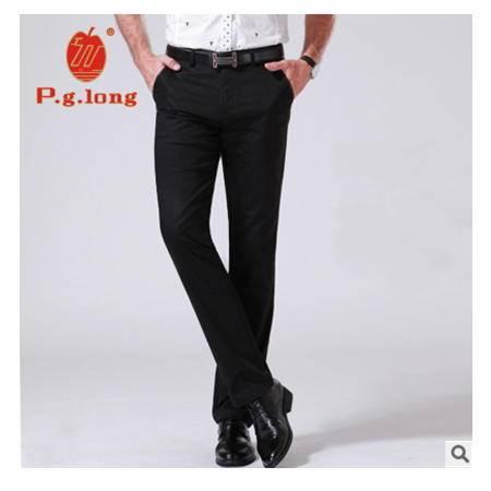 修身男士商务弹力修身直筒裤子男薄款免烫长裤子潮式休闲裤品牌龙仕顿包邮