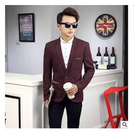 男青年男式休闲西服外套2016春季新款韩版修身潮款小西装博纳罗蒂包邮