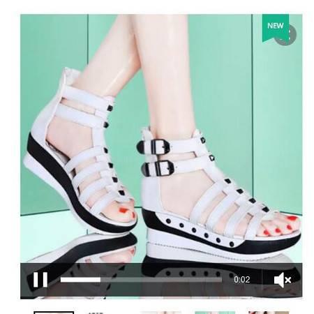 凉鞋女夏中跟学生百搭2016夏季新款古奇天伦罗马韩版舒适时尚平跟
