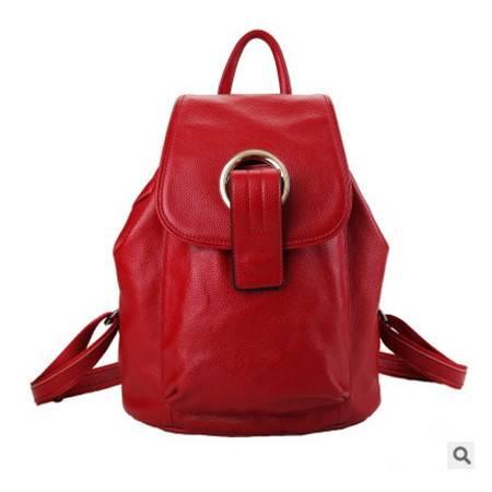 女包学院风双肩牛皮手提包潮女旅行背包2016新款韩版真皮双肩包包邮