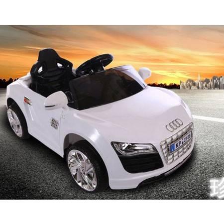 奥迪四轮双驱动带遥控带摇摆可充电童车小孩可坐人kp儿童电动汽车爱童