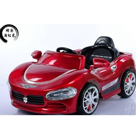 四轮双驱遥控可坐人自带音乐有避震玛莎拉蒂儿童电动汽车爱童