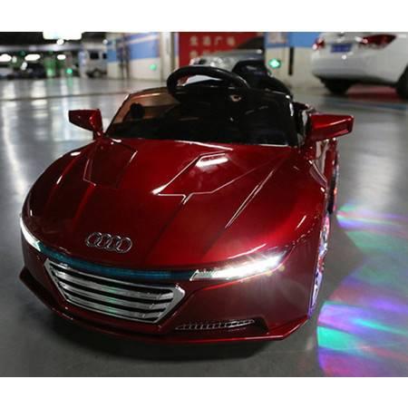 双驱带遥控可坐人四轮闪光带摇摆2016新款奥迪儿童电动车四轮汽车爱童包邮