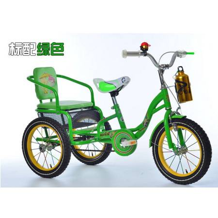 可带人充气轮带水壶可折叠新款奥新儿童三轮车脚踏车带斗三轮车爱童