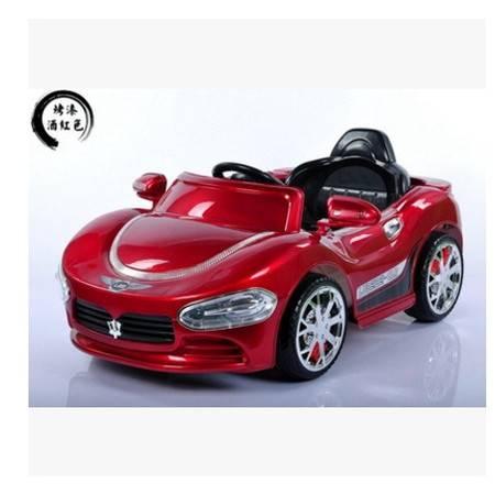 销玛莎拉蒂款儿童电动车四轮双驱遥控可坐人全车闪灯带音乐爱童
