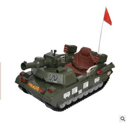 可遥控可坐双驱仿真坦克 哈喽贝比大型儿童电动仿真坦克爱童包邮