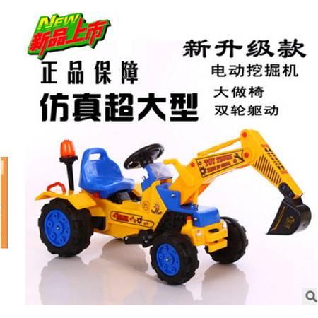 可坐人控制方向挖特儿童脚踏工程车脚踏推土机挖土机爱童