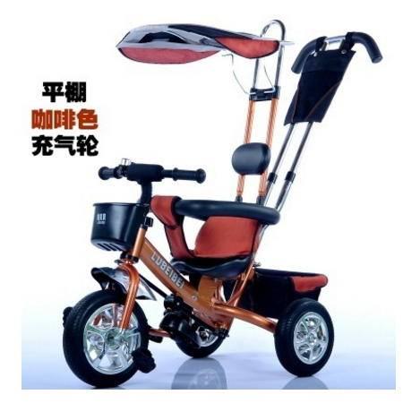 四合一加伞篷带靠背新款充气轮送送安装工具儿童三轮车爱童