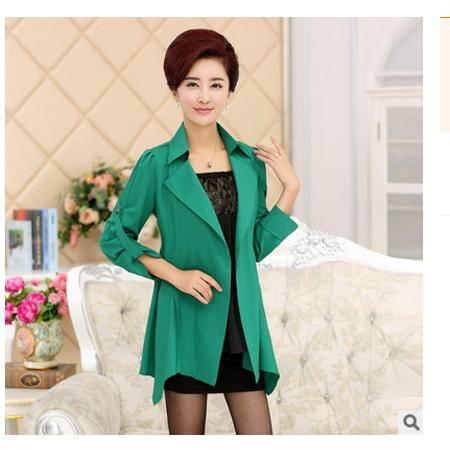 中老年妈妈装中长款显瘦风衣 春秋女外套2016新款时尚女装 系卖
