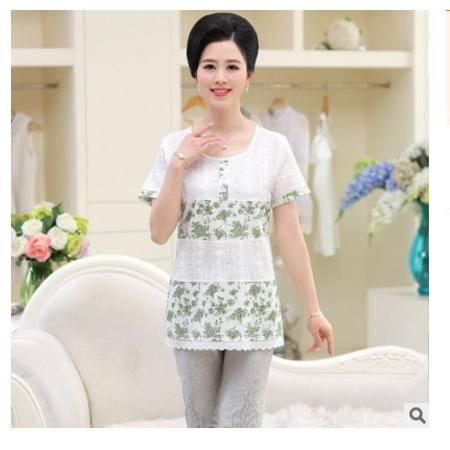 中老年女装休闲棉麻短袖打底上衣中年老年人夏季新款棉麻T恤小衫系卖