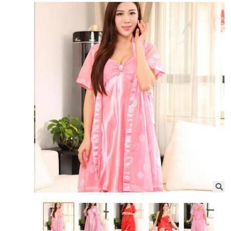 真丝女士性感夏季睡衣吊带透视情趣女长袖家居服两件套旭宏睡衣