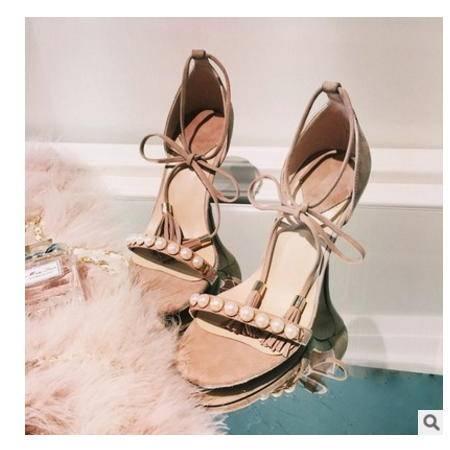 水钻露趾高跟流苏细跟韩版时尚凉鞋2016夏季新款女凉鞋丰霞包邮