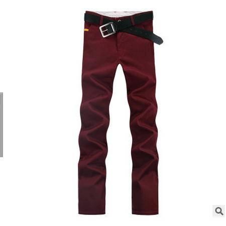 男士弹力修身纯棉男款布裤子男裤夏季休闲裤男小直筒青年薄款长裤墨郎包邮