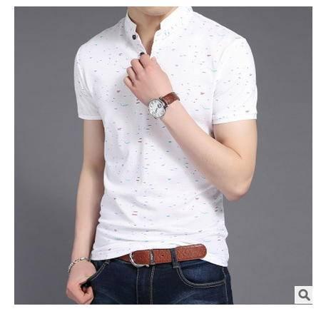 夏季男装半袖男式t恤印花潮t恤男青年男式polo衫纯棉男士短袖t恤墨郎