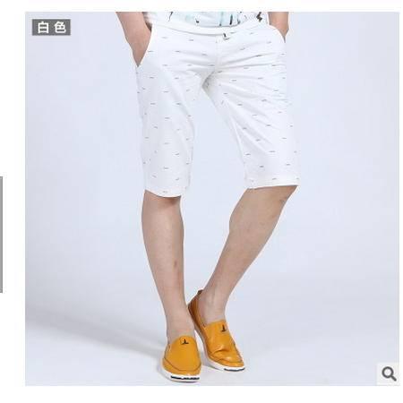 修身韩版中腰纯色五分裤中裤男纯棉多色2016夏装新款男士沙滩裤墨郎