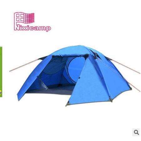 三人野营帐篷多人高山防风户外3-4人双层防暴雨帐篷拓步包邮