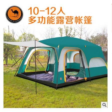 户外野营6人8人10人12人二室一厅多人大帐篷两房一厅帐篷拓步包邮