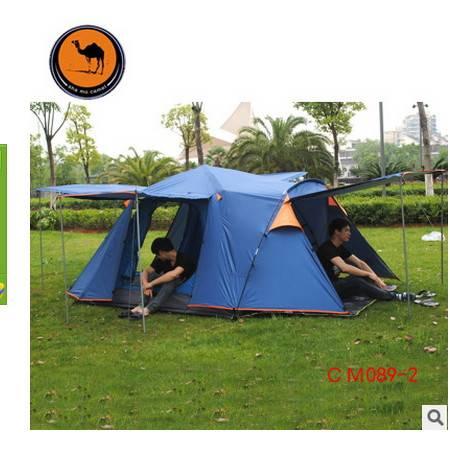 帐篷户外3-4人多人野营四方顶四门型户外帐篷带厅拓步包邮