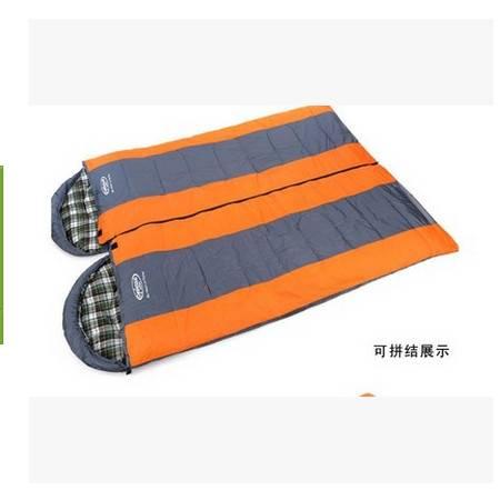 信封带帽 可拼睡袋法兰绒高级睡袋拓步