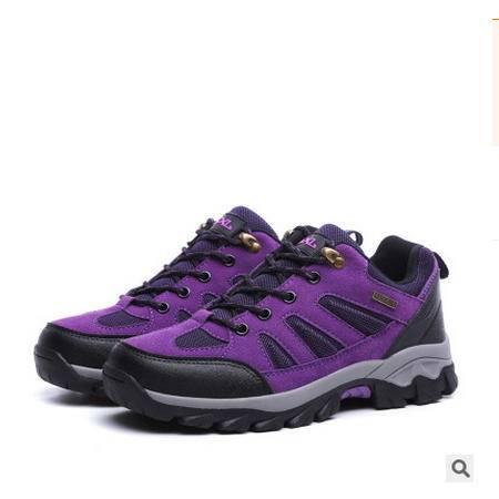 男女情侣款进口皮革时尚户外休闲鞋休闲徒步登山鞋银锋包邮