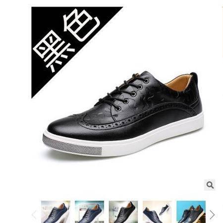 2016夏季新品布洛克休闲男鞋英伦风男士板鞋品牌男鞋鞋子承发